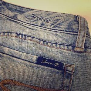 Seven 7 Women's Jeans Low Rise Stretch Flare Leg
